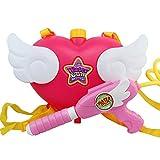 OLizee Super Cute Kids Girls Pink Angel Heart Backpack Water Gun Squirt Gun