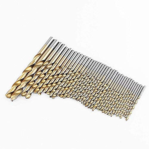 99-Piece High-Speed Steel Hexagonal Shank Bits, HSS Micro Concrete Drill Bit Set High-Speed Steel Titanium Coated Drill Bits