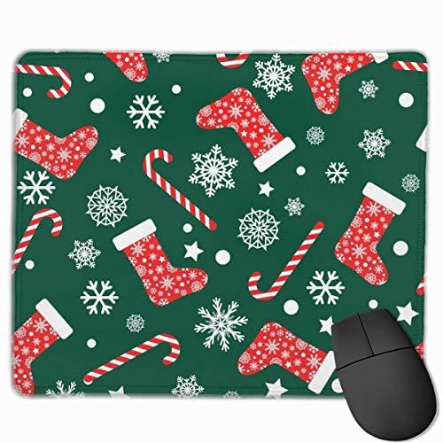 KKs-Shop Mauspad 25 x 30 cm, Vordruck, nahtlos, mit roten und weißen Socken, für Maus, Gaming-Maus, Pad