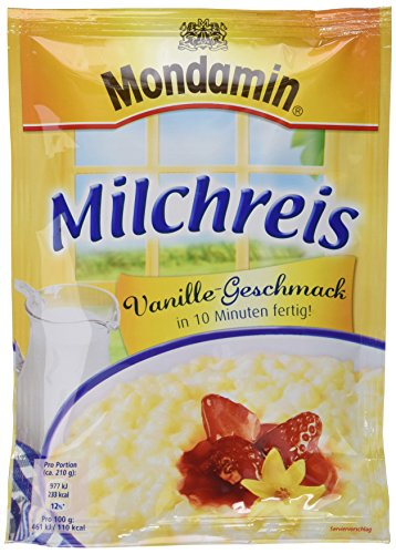 Mondamin Milchreis Vanille 3 Portionen, 8er Pack (8 x 117g)