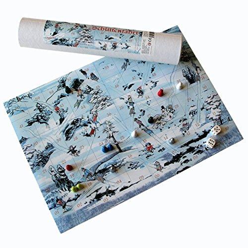 Spieltz Fröhliche Schlittenfahrt - Winter- und Weihnachts-Spiel. Familien Brettspiel für Weihnachten und Advent.