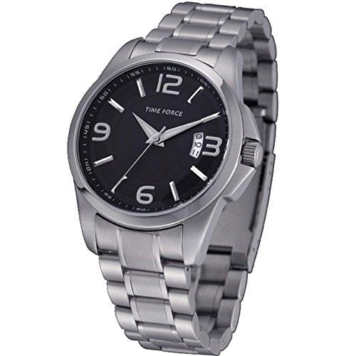 Time Force TF4019M01M - Reloj analógico de Caballero con Calendario - Acero Inoxidable