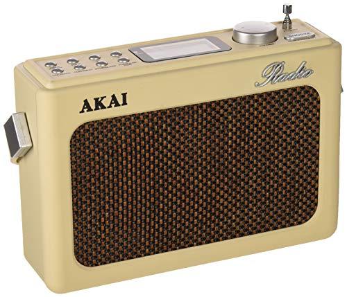 Akai R150BT/RD - Radio con Bluetooth Diseño Retro, Beige