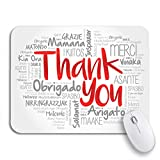 Adowyee Gaming Mouse Pad Love Thank You Word Cloud in All Languages Multi 9.5