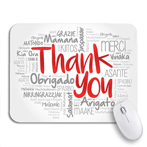 Adowyee Gaming Mouse Pad Love Thank You Word Cloud in All Languages Multi 9.5'x7.9' Nonslip Rubber Backing Computer Mousepad for Notebooks Mouse Mats