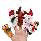 Burattini a dito TOYMYTOY Marionetta a dito da Babbo Natale Cervi Pupazzo di neve Pupazzo di dito Giocattoli bambola mano - 5 Pezzi