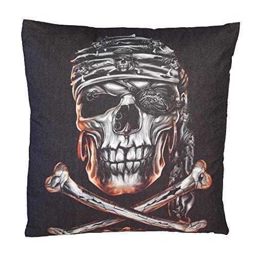 Cojín decorativo con diseño de calavera pirata con relleno, cojín para sofá con relleno, cojín de peluche, cojín decorativo de Navidad, regalo de cumpleaños