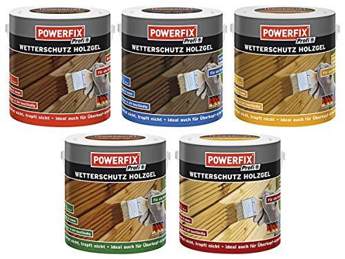 POWERFIX PROFI - Barniz para madera (protección contra la intemperie, para interior y exterior, 2,5 L)