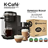 Keurig K-Café Coffee Maker, Single Serve K-Cup Pod Coffee, Latte and Cappuccino Maker, Charcoal and...