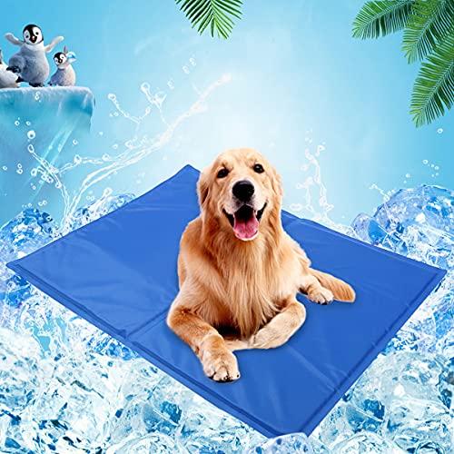 HUA JIE Alfombrilla Refrescante para Perros Gatos, Alfombra Refrescante Automática Impermeable para Mascotas Grantes, Utilizado en el Suelo, Sofá, Cama y Balcón,90x50cm