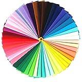 Skyeye Tela De Colores Bolsa De Patchwork En Tejido Liso De Poliéster-algodón Adecuado Para Artesanías Bricolaje Costura álbum De Recortes Ropa 42 Colores