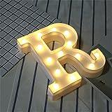 LED Brief Lichter Alphabet Kunststoff Lampe Warm White Buchstaben Lichter Dekoration Weiße...