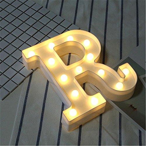 LED Brief Lichter Alphabet Kunststoff Lampe Warm White Buchstaben Lichter Dekoration Weiße Buchstaben Lichter Festzelt Licht, für Party Hochzeit Empfänge Home, Batteriebetrieben, von DUBENS (R)
