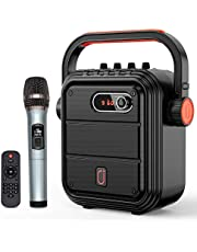 JYX Karaoke Speaker with Microphone Portable Bluetooth Speaker Set Rechargeable PA System with FM Radio, Audio Recording, TWS, Remote Control, Supports TF Card/USB