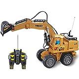 RUIXI TTGE 1: 8 Große Simulation Legierung 2.4G Fernbedienung Bulldozer Baufahrzeug Junge Spielzeug