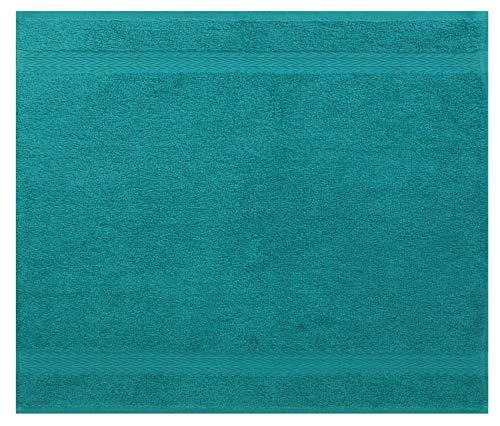 Betz Serviette débarbouillette Lavette Taille 30 x 30 cm 100% Coton Premium Couleur Vert émeraude