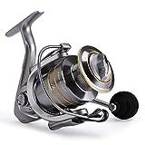 Rooauueu Carretes de Pesca Carrete Giratorio de Agua Salada con 14 + 1 rodamientos de Bolas Carrete de Repuesto de Grafito Gratis(3000)