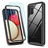 LeYi Case for Samsung Galaxy A02S Case and Tempered Glass