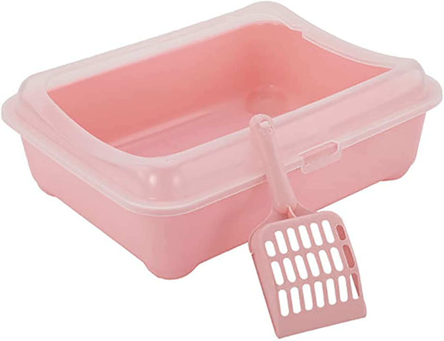 Candy color Litter Box, cat Toilet Litter Box with Litter Scoop,SemiClosed pet cat Toilet,pet Toilet,Avoid Urine Splashing Outward