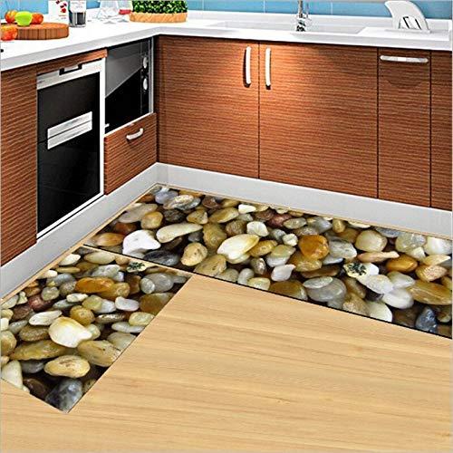HLXX Patrón de Nota de tecla de Piano Felpudo del hogar Alfombra de percusión de Color Impermeable Cocina decoración del hogar artesanía A4 40x60cm + 40x120cm