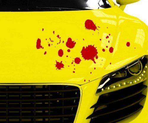 myDruck-Store Adesivi per Auto Gocce Sangue Horror Macchie Halloween Adesivo Auto 5O022 - Rosso Lucido, 60cm