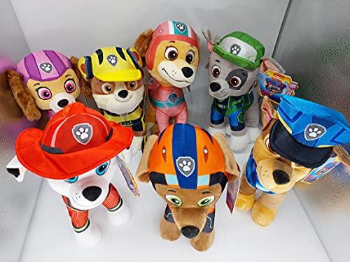 La Patrulla Canina The Movie - Figuras de peluche (27 cm, Chase, Marshall, Liberty, Skye, Rubble, Rocky, Zuma, licencia original para niños, Braver Than Ever, película 2021 (Skye)