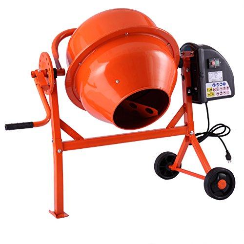 2-1/5cuft Concrete Mixer Cement Machine Electric Barrow Portable Heavy Duty
