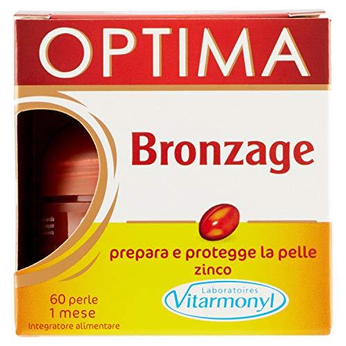 Vitarmonyl OPTIMA BRONZAGE  Integratore 60 perle  Prepara e protegge la pelle  Registrato Ministero Salute Italiano