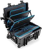 B&W Valigetta portautensili JUMBO 6700 mobil con tasche portautensili a inserto (valigetta in PP, volume 43,5l, 53,9 x 35,9 x 22,5 cm interno) 117.19/P, senza utensili