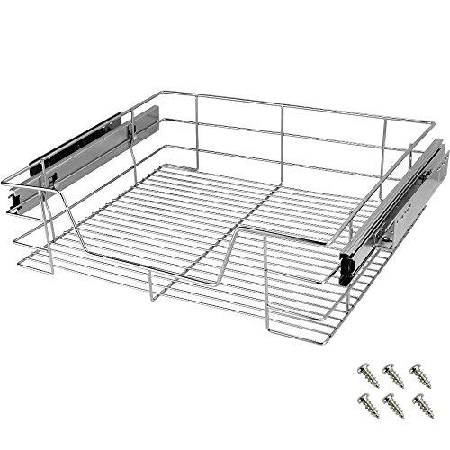 Deuba Cajón telescópico bandeja de metal extraíble 60cm organizador interior almacenaje cocina baño