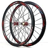 YUDIZWS 700c Llanta Bicicleta De Carretera Aleación Aluminio Doble Pared Liberación Rápida Volante 7/8/9/10/11/12 Velocidades Freno Disco (Color : Gray)