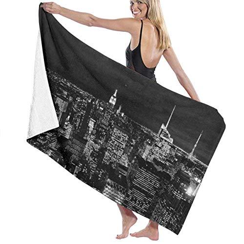 WKLNM badhanddoek New York City Skyline zwarte wasdoeken 100% polyester yoga handdoek zeer absorberende sauna handdoek snel droog bad lakens voor Home Hotel Spa - 32x51 inch