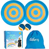 Liberry Paddle Toss and Catch Ball Set-Upgraded Version 8 Inch Paddle Catch Games Toy for Kids/Adults