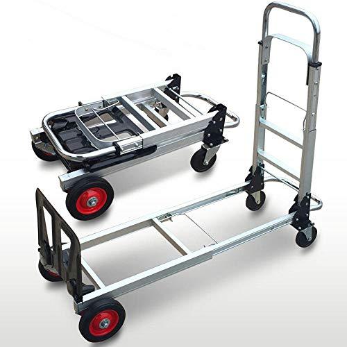 MIZE Aluminiumlegierung Einkaufstrolley mit Rollen Faltbar Leichtgängige Räder mit Soft-Laufflächen und bis 200 kg,Silber Royal Shopper für Reisen, Geschäftsreisen, Ausflüge