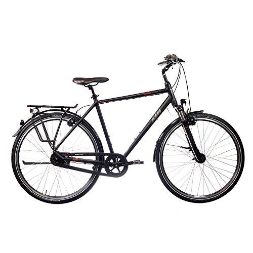 KTM Lugano 8 Plus Herren 8 Gang Trekking Fahrrad 2016, Farbe:Schwarz;Rahmenhöhe:60 cm