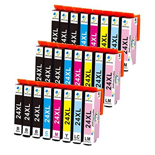 24XL Cartuchos de tinta compatibles para Epson 24 XL para Epson Expression Home XP-750 XP-760 XP-850 XP-860 XP-950 XP-960 XP-55 Negro/Cian/Magenta/Amarillo