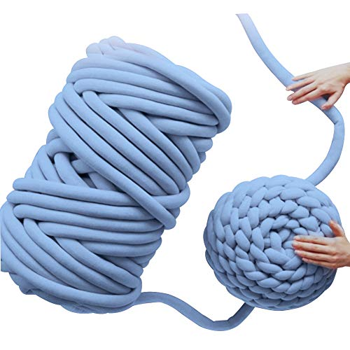 Bloomma Strickwolle, grobe Wolle, Polyacrylnitrilfaser, für handgefertigte Schals, Teppich, Mütze, Pullover, blau, as show