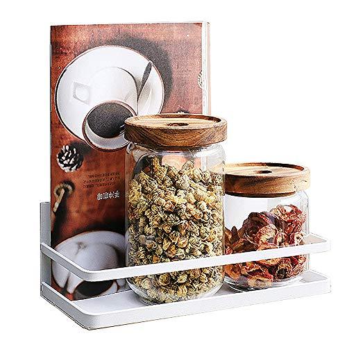 XGzhsa Organizador de especias de nevera, Estante de especias, Estante de cocina Refrigerador Estante de almacenamiento magnético lateral para botellas de tanques de especias (blanco)