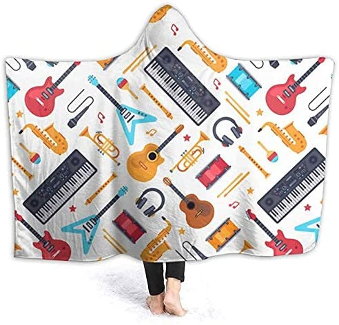 Popular standard sordiw Retro Music Hooded Blanket Sweatshirt Outdoor Wear Poncho Manufacturer regenerated product