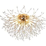 LukLoy Dandelion Ceiling Lamp, Super Pretty and Inspiring Light (Gold, 60cm)