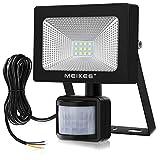 Projecteur LED MEIKEE 10W, 1000lumen avec Détecteur de Mouvement, Lampe de sensibilité etanche IP66, Lumière de Sécurité pour le jardin, la cour, le garage, le terrain de sport et le couloir, etc