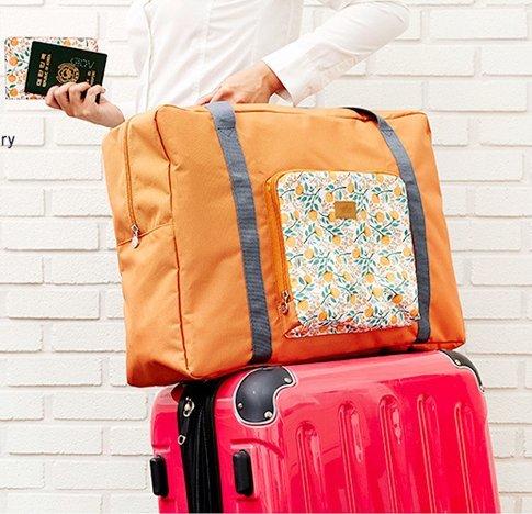 MZP pliage portable emballage sac de vêtements Voyage portable sac vêtements sacs étanches finition à haute capacité , orange