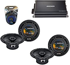 Compatible with Subaru Impreza WRX 2008-2014 OEM Speaker Upgrade Harmony (2) R65 & CXA300.4 Amp (Renewed)