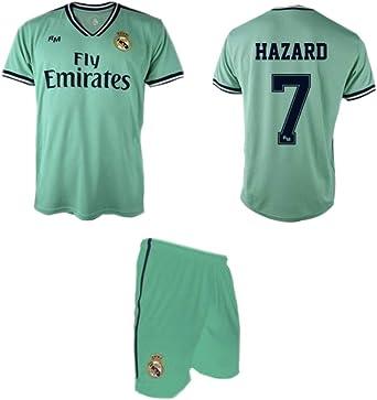 Real Madrid Hazard 3ª Equipación Verde niño Camiseta pantalón Tallas 6 a 14