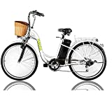NAKTO 26' 250W Cargo Electric Bicycle Sporting Shimano 6 Speed Gear EBike Brushless Gear Motor with...