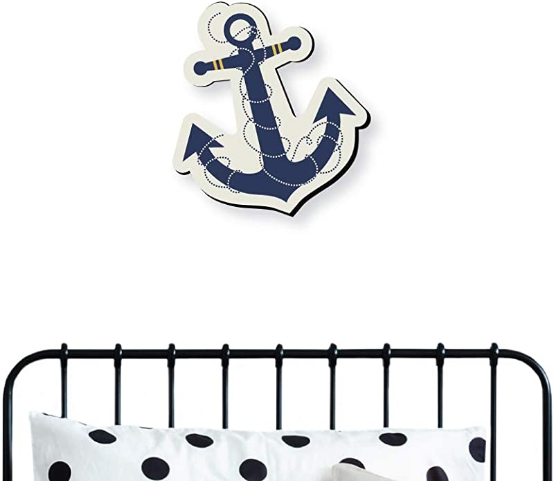 Big Dot Of Happiness Ahoy Nautical Nursery And Kids Room Home Decorations Shaped Wall Art 1 Piece