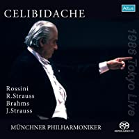 ブラームス : 交響曲 第4番 ホ短調 op.98 他 (Rossini, R.Strauss, Brahms, J.Strauss / Celibidache, Munchner Philharmoniker) [SACD シングルレイヤー]