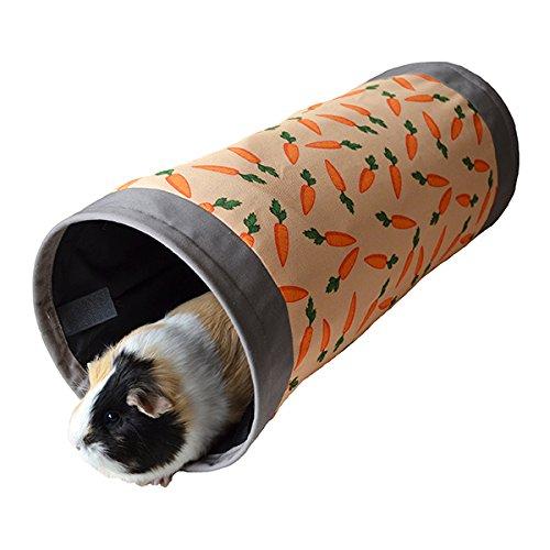 Rosewood 19615 Snuggles Spieltunnel Aus Stoff Mit Karotten-Print Für Kaninchen, Meerschweinchen, Frettchen Und Ratten