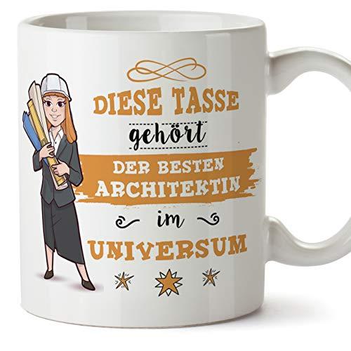 Architektin Tasse/Becher/Mug Geschenk Schöne and lustige kaffetasse - Diese Tasse gehört der besten Architektin im Universum - Keramik 350 ml