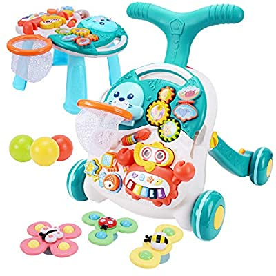 Amazon - 50% Off on Sit-to-Stand Walker with Activity Center – Multifunctional Baby Push Walker